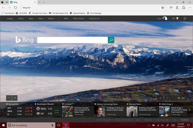 Microsoft : Changer la page d'accueil Microsoft Edge