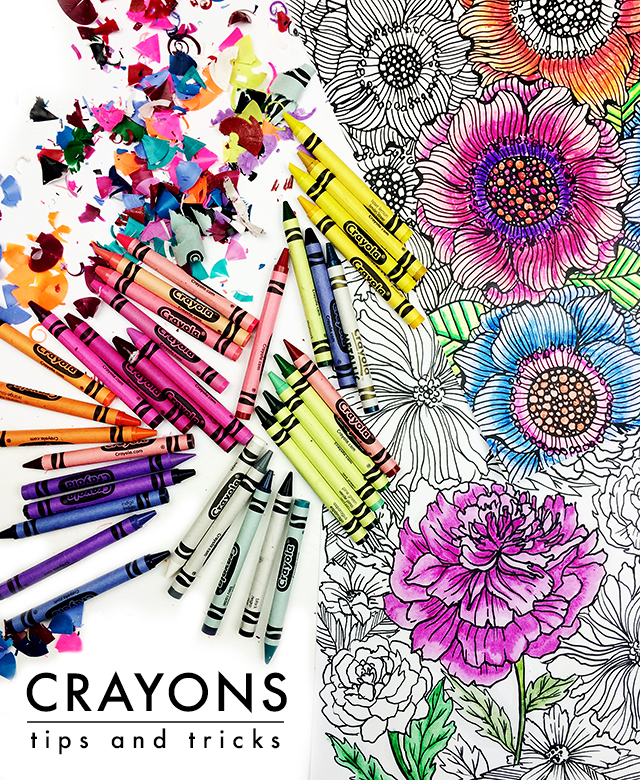 How To Color With Crayons : color, crayons, Alisaburke:, Crayons:, Tricks