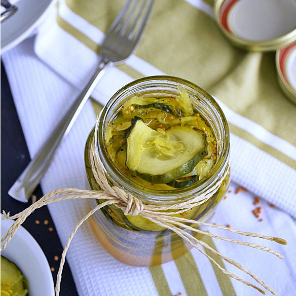 Homemade Bread and Butter Pickles | by Life Tastes Good are easy to make, fresh, and the perfect accompaniment to your favorite sandwich. #SundaySupper