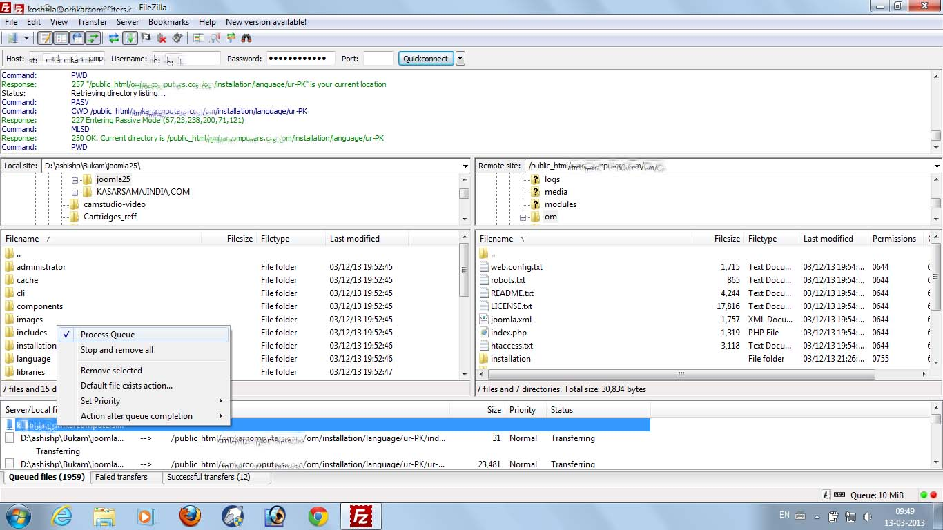filezilla datei