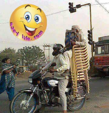 Funny Bike men