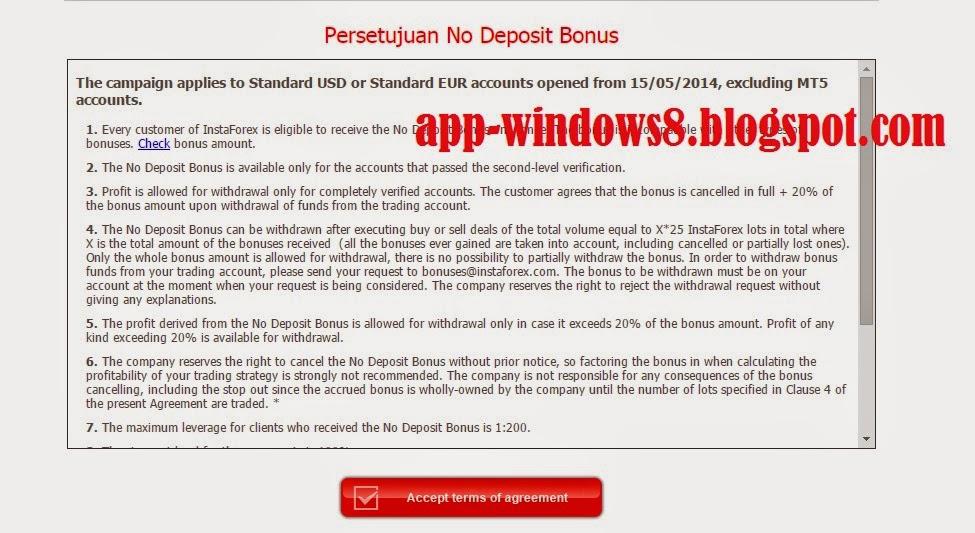 Cara mendapatkan bonus no deposit