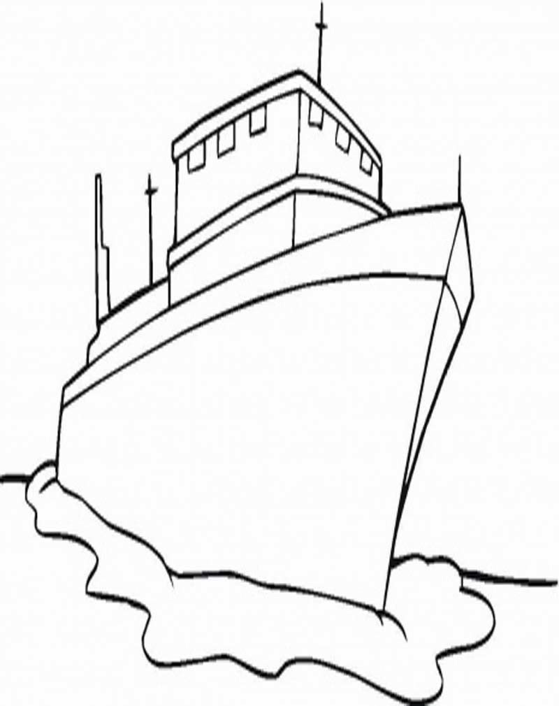 Sketsa Gambar Kapal Laut