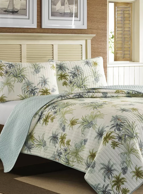 Tropical Palm Tree Bedding Cotton Quilt