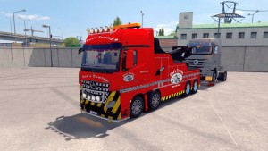 Mercedes MP4 Crane Truck