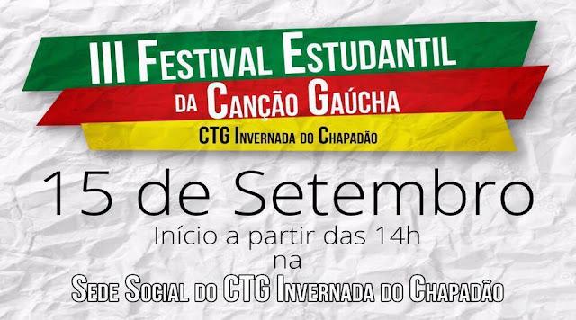 Abertas as inscrições para o 3º Festival Estudantil da Canção Gaúcha