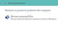 Ritrovare i file spariti dopo installazione Windows 10