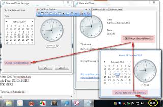 seting format tanggal dan waku komputer 1