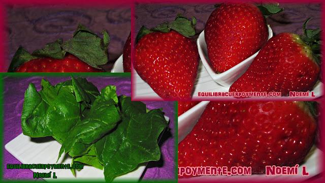 fresas y espinacas