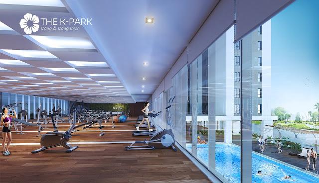 Tiện ích phòng tập gym hiện đại