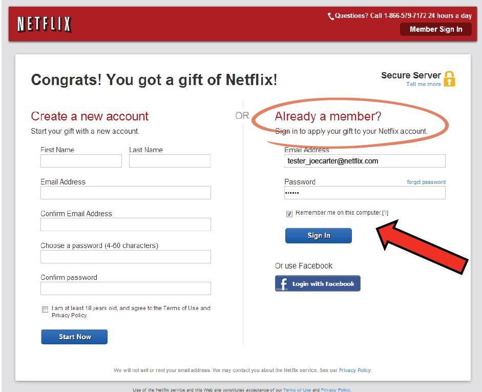 Netflix address