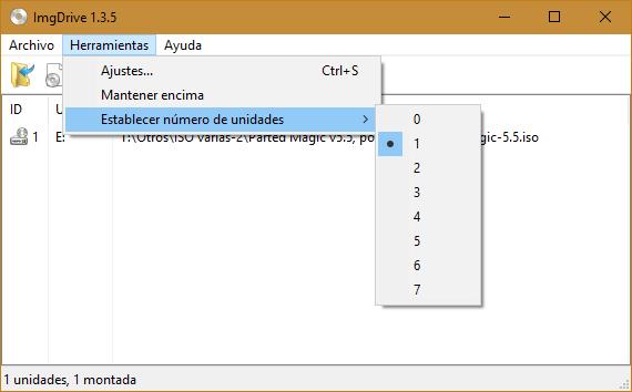 ImgDrive 1.5.0  + Portable | Programa para montar y explorar archivos de imagen de disco que permite crear hasta siete unidades virtuales