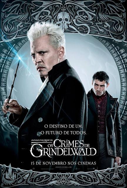Os pôsteres nacionais dos personagens de 'Os Crimes de Grindelwald' | Gerardo Grindelwald e Credence Barebone | Ordem da Fênix Brasileira