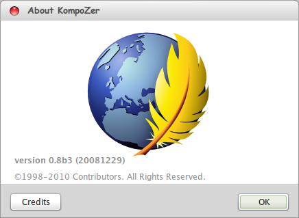 KompoZer WYSIWYG HTML Editor Linux