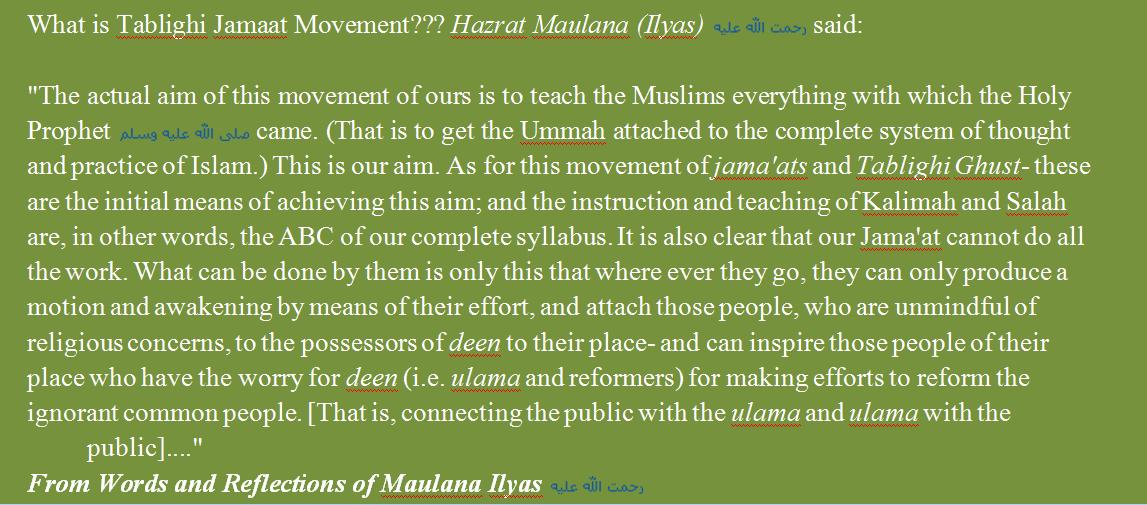 DAWAT O TABLIGH & ISLAH: Aims,Principles Methods,expected