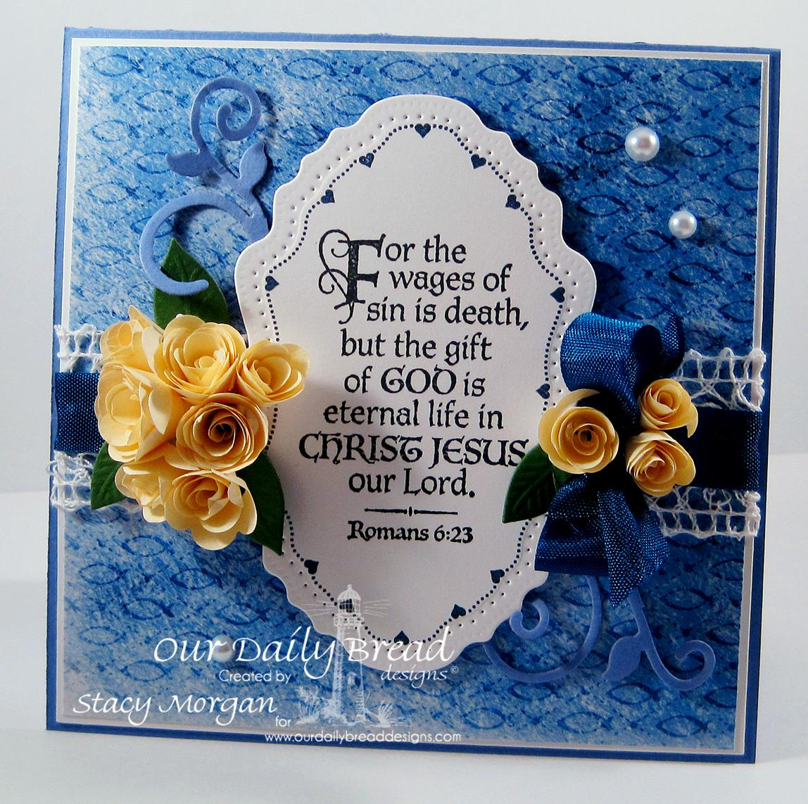 Stamps - Our Daily Bread Designs The Cross, ODBD Christian Faith Paper Collection, Flourish Label Borders, ODBD Custom Vintage Flourish Die, ODBD Custom Fancy Foliage Die