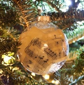 Glass Music Sheet Ornaments 1