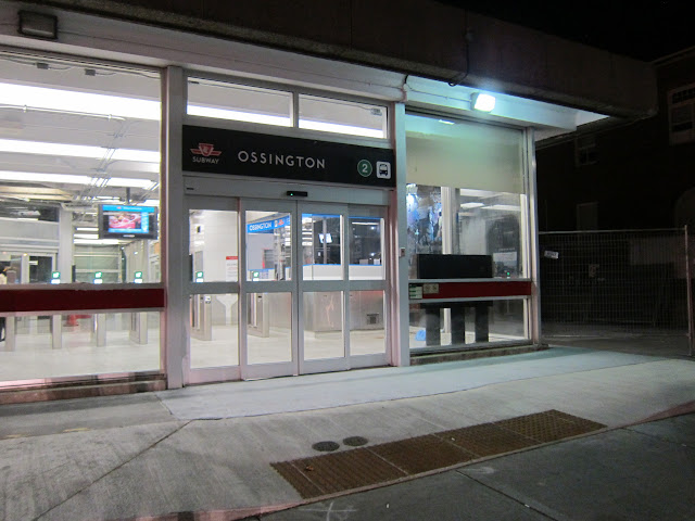 Ossington station entrance, September 2016