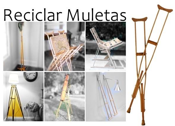 manualidades reciclar muletas, transformaciones, bricolaje