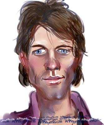 Bon Jovi is a caricature by Artmagenta