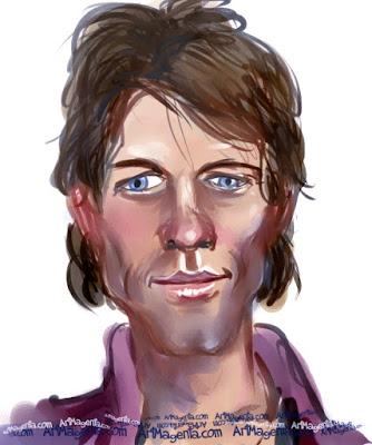 Bon Jovi is a caricature by Artmagenta