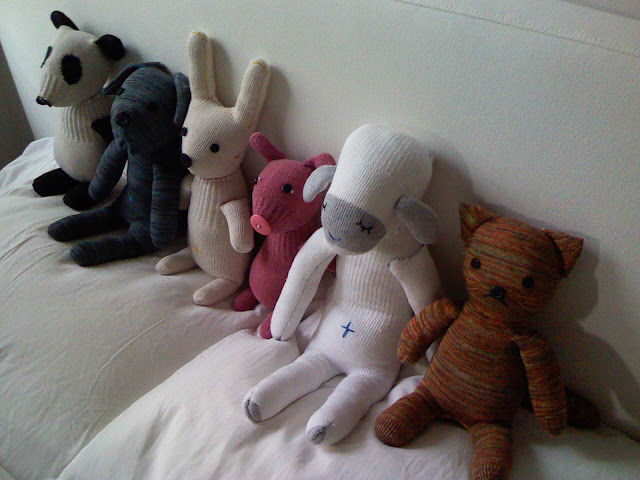 handmade, sock animals