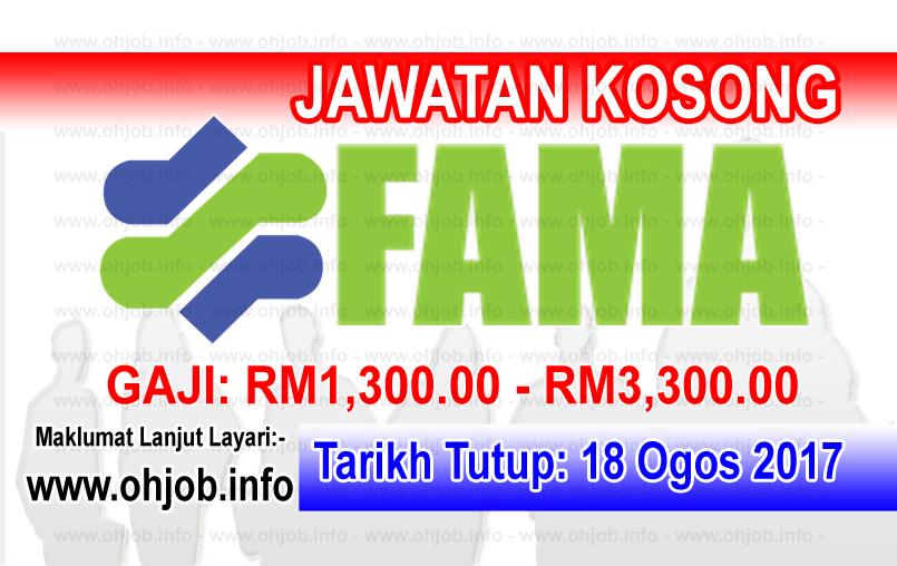 Jawatan Kerja Kosong Lembaga Pemasaran Pertanian Persekutuan - FAMA logo www.ohjob.info ogos 2017