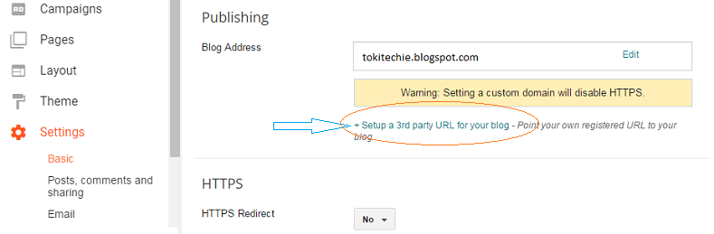 Setup custom domain name of Blogger blog to Godaddy in 2017
