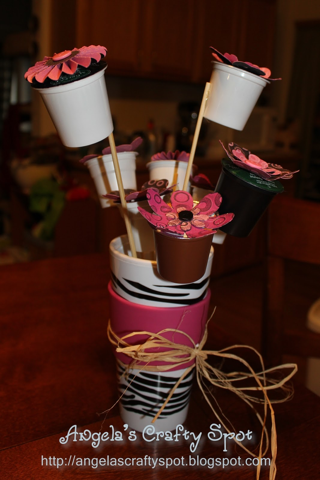 Angela's Crafty Spot: Flowers made from K cups