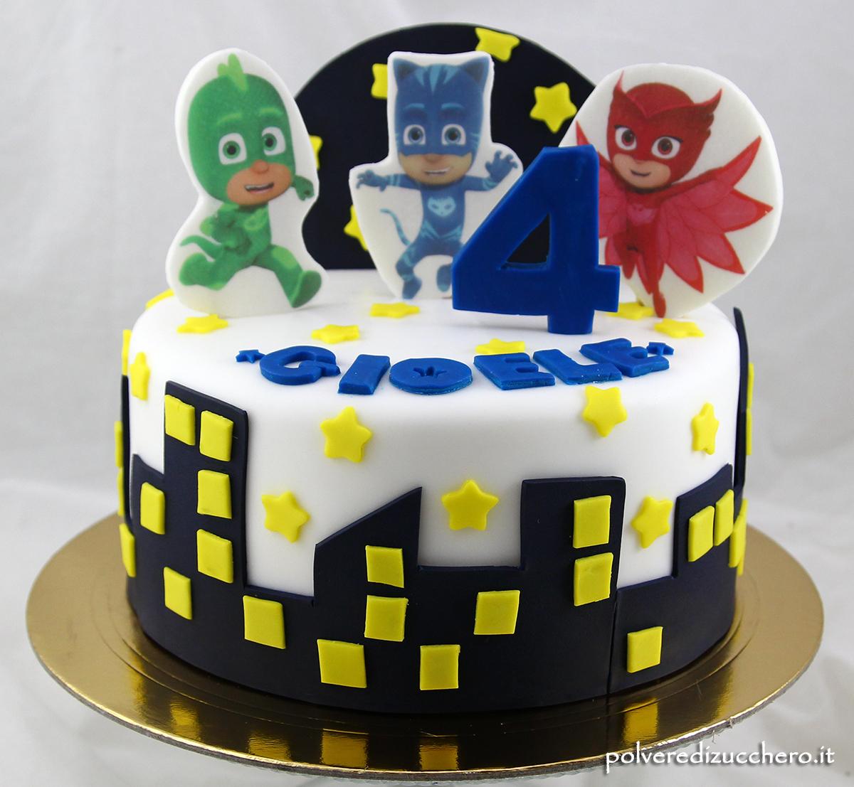 pasta di zucchero cake design wafer paper cialda ostia pj masks super pigiamini pasta di zucchero polvere di zucchero