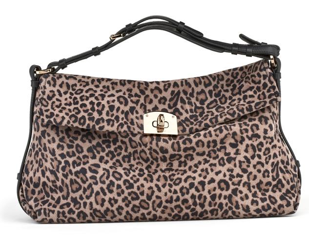 6a505091a67 Sergio Rossi Leopard Suede Shoulder Bag