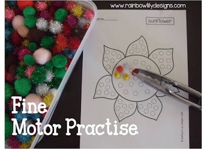 fine motor practise www.rainbowlilydesigns.com