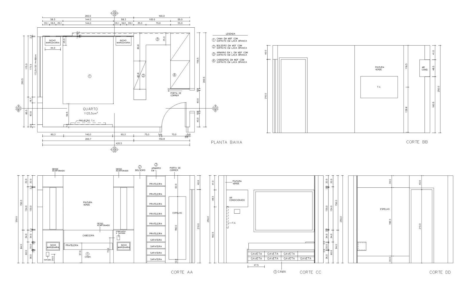 Arquiteta maria helena torres reforma de apartamento na for Closets para apartamentos pequenos