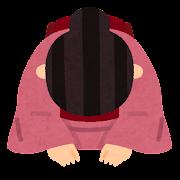 座礼のイラスト(女性)