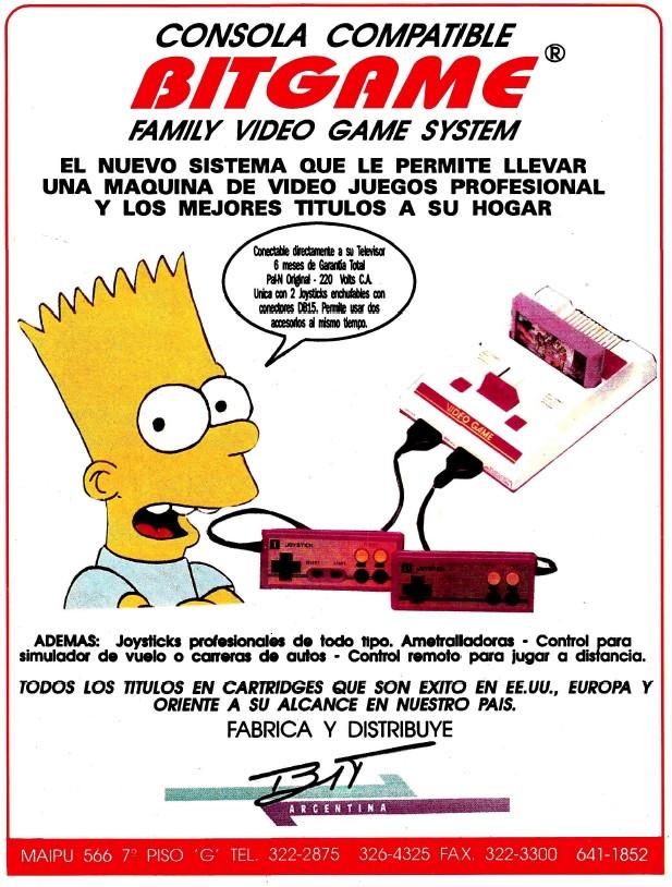 Family Game En Argentina Publicidad Bitgame Con Bart Simpson