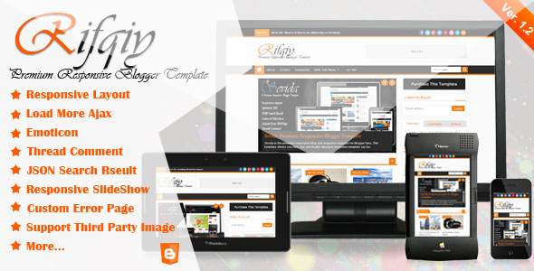 Rifqiy Blogger Templates Responsive Themeforest - Themes Arena