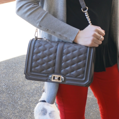 Away From The Blue | Rebecca Minkoff Love cross body bag in grey