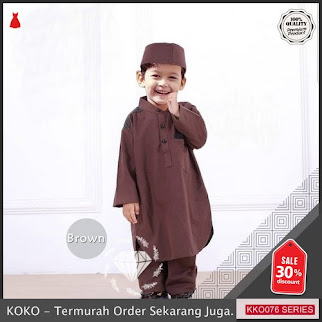 KKO76 MKF129 Set Koko Baim Untuk Anak Baju Lebaran BMGShop
