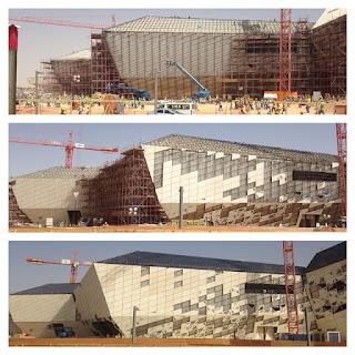 foto pemasangan panel GRC facade gedung KAPSARC