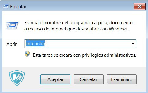 Mantenimiento PC msconfig