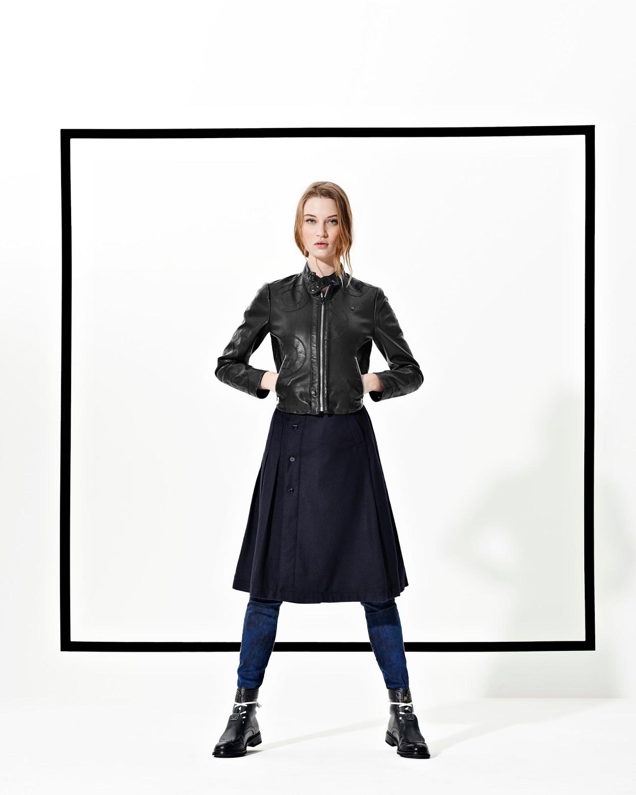 be214bbbb3 On hésite pas à superposer les vêtements chez G-Star, à porter les jupes  avec des socquettes