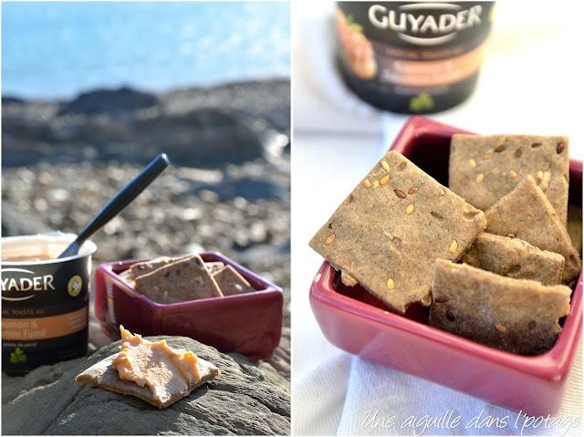 Crackers de sarrasin aux graines de lin ou aux algues (sans gluten)