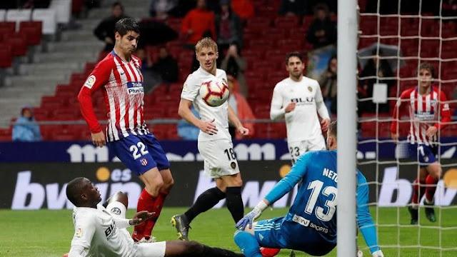 Hasil Liga Spanyol: Saling Berbalas Gol, Atletico Bungkam Valencia 3-2