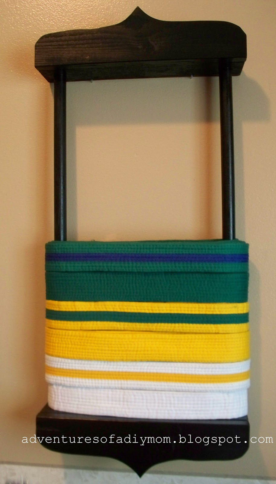 how to build a karate belt display rack