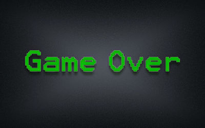 Game Over 8-bit - Fond d'écran en Full HD 1080p