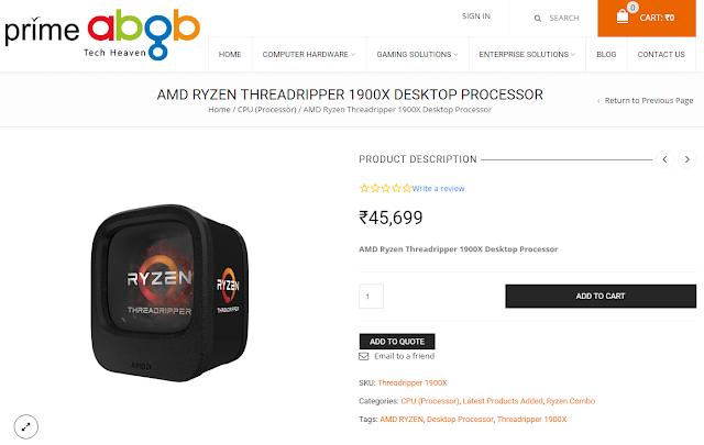 AMD Threadripper 1900X CPU