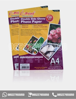 Kertas Foto Glossy Photo Paper Double Side Eprint A4 150gsm, alat tulis sekolah 0852-2765-5050