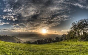 Wallpaper: Landscape from Montebabbio, Emilia Romagna, Italy