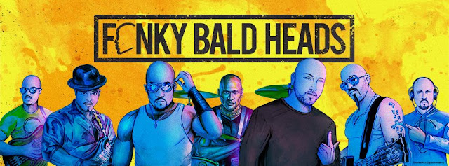 Fonky Bald Heads Official Banner Art - Art Drawings by Artist Spencer J. Derry.
