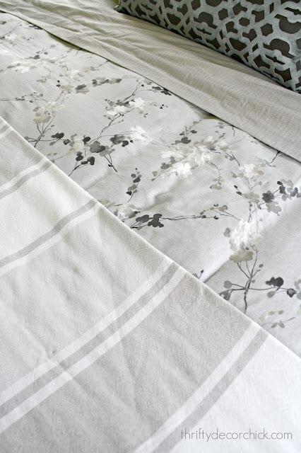 Light and dark gray bedding combo